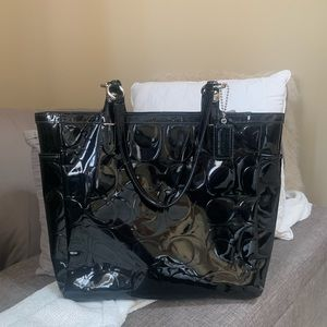 Perfect! Coach patent leather tote/purse black